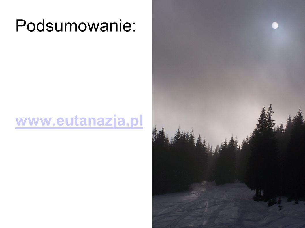 Podsumowanie: www.eutanazja.pl