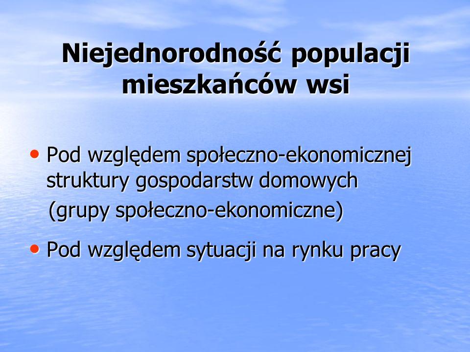 Niejednorodność populacji mieszkańców wsi