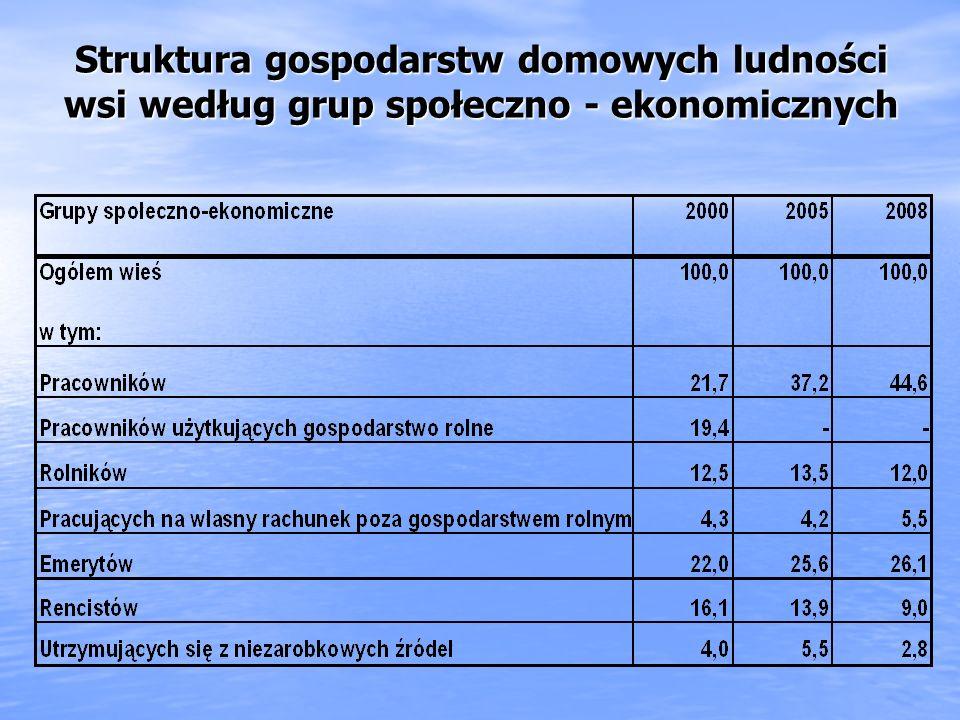 Struktura gospodarstw domowych ludności wsi według grup społeczno - ekonomicznych