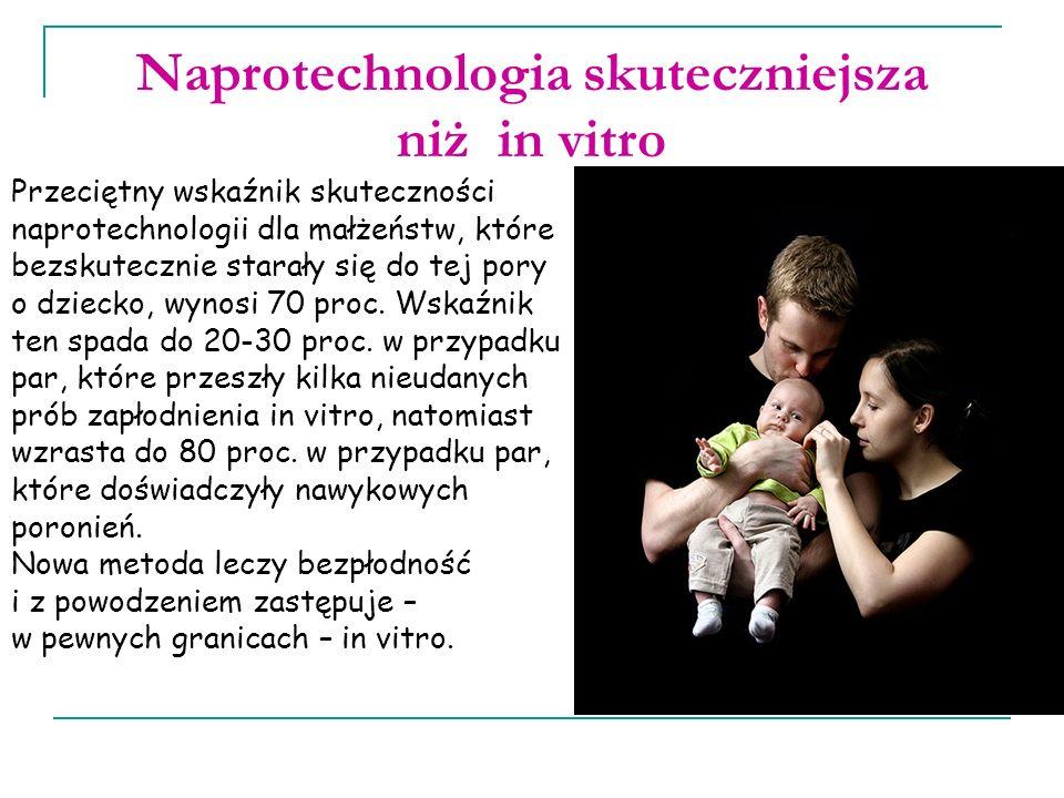 Naprotechnologia skuteczniejsza niż in vitro