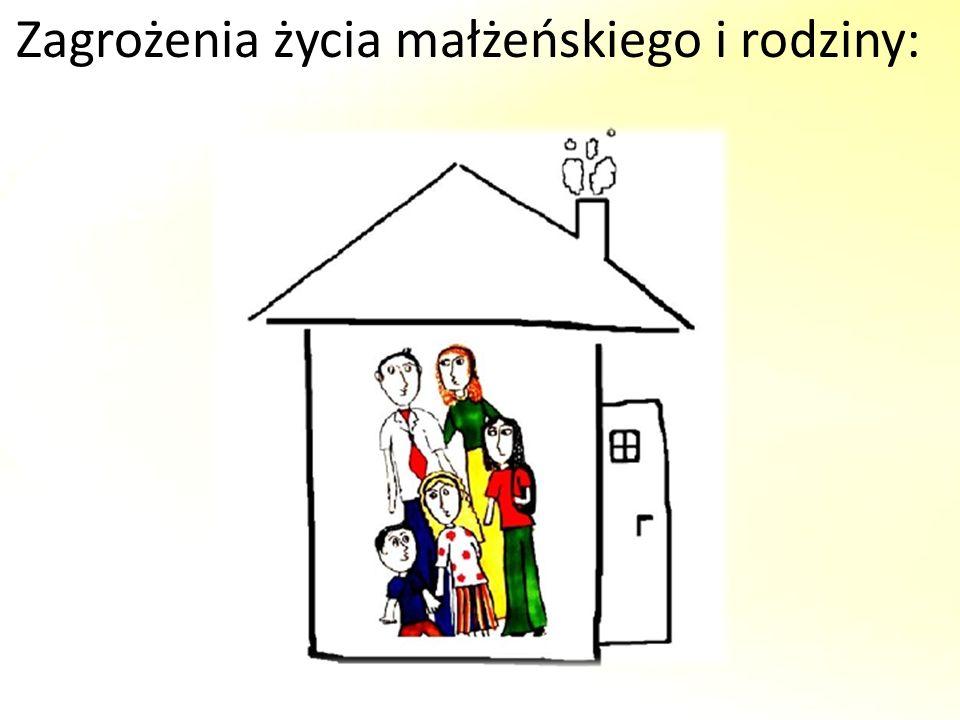 Zagrożenia życia małżeńskiego i rodziny:
