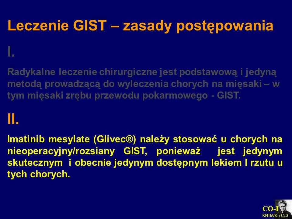 Leczenie GIST – zasady postępowania I.