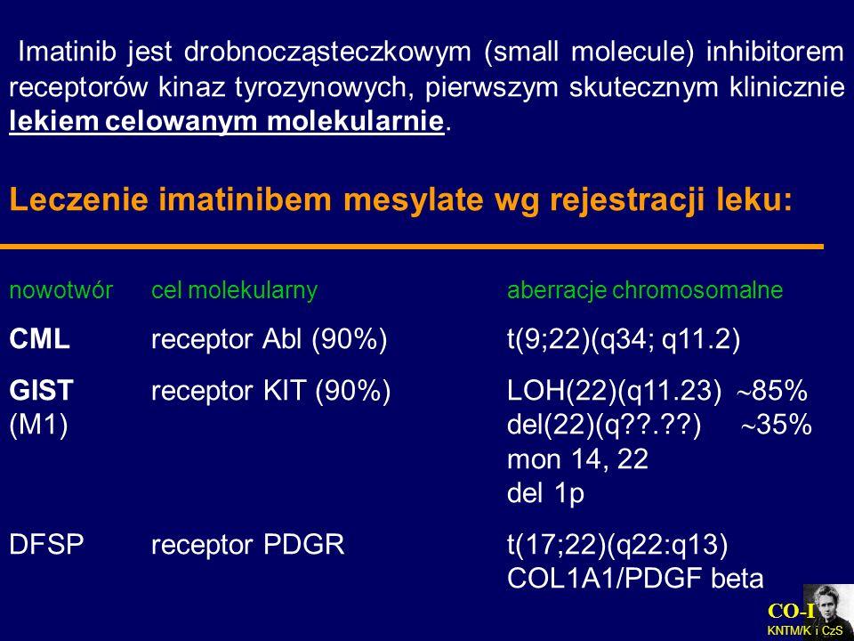 Leczenie imatinibem mesylate wg rejestracji leku: