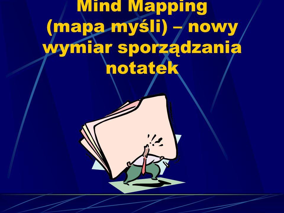 Mind Mapping (mapa myśli) – nowy wymiar sporządzania notatek