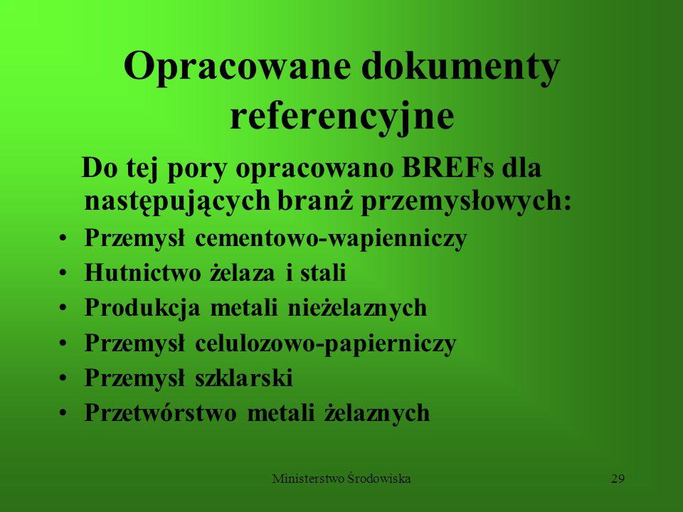 Opracowane dokumenty referencyjne
