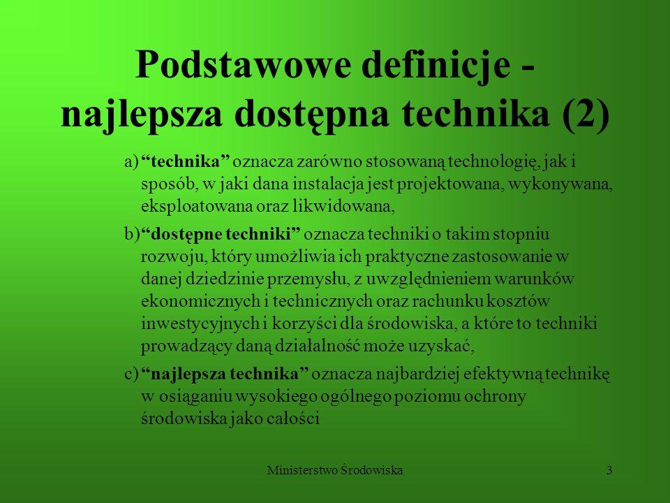 Podstawowe definicje - najlepsza dostępna technika (2)