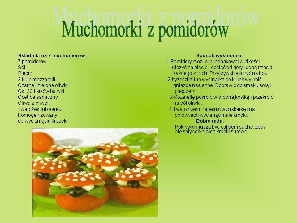 Muchomorki z pomidorów