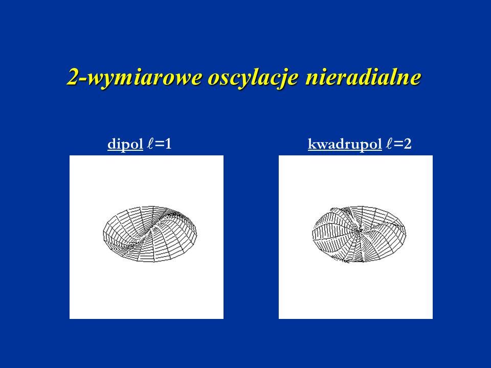 2-wymiarowe oscylacje nieradialne