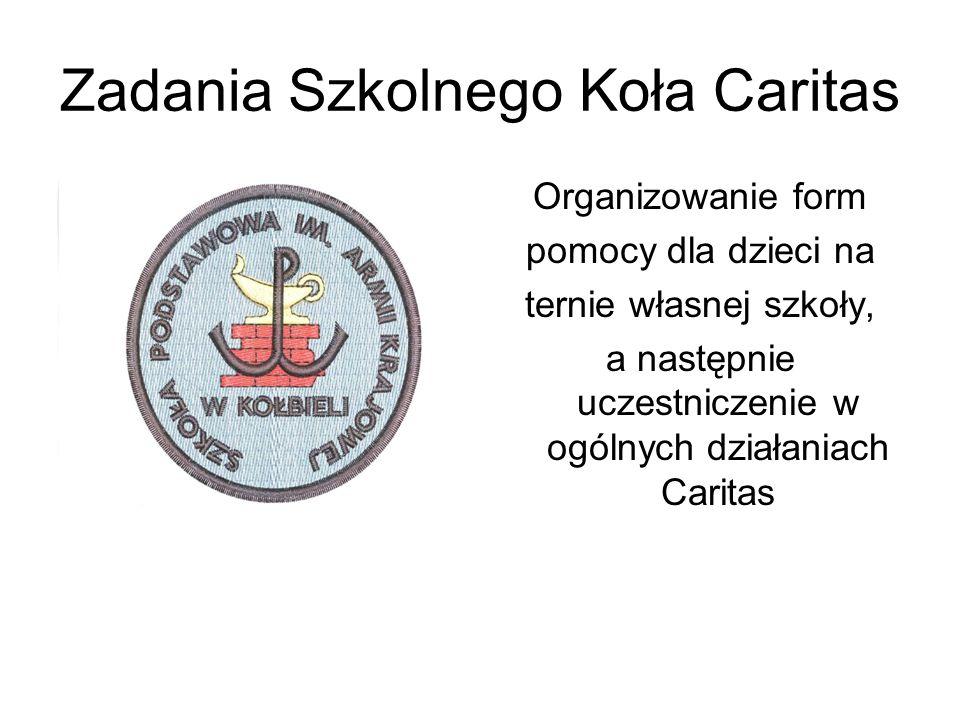 Zadania Szkolnego Koła Caritas