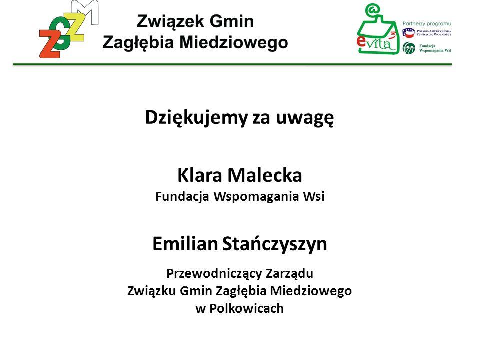 Dziękujemy za uwagę Klara Malecka Emilian Stańczyszyn