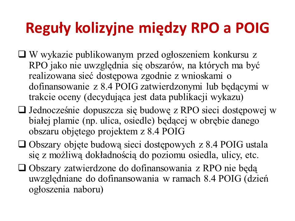 Reguły kolizyjne między RPO a POIG