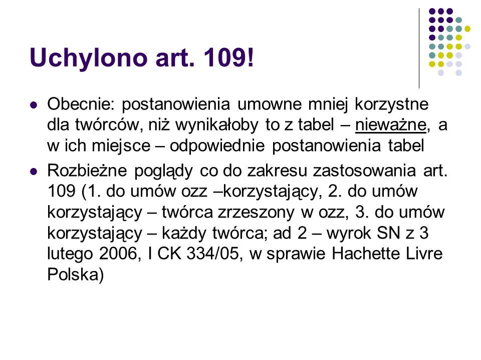Uchylono art. 109!