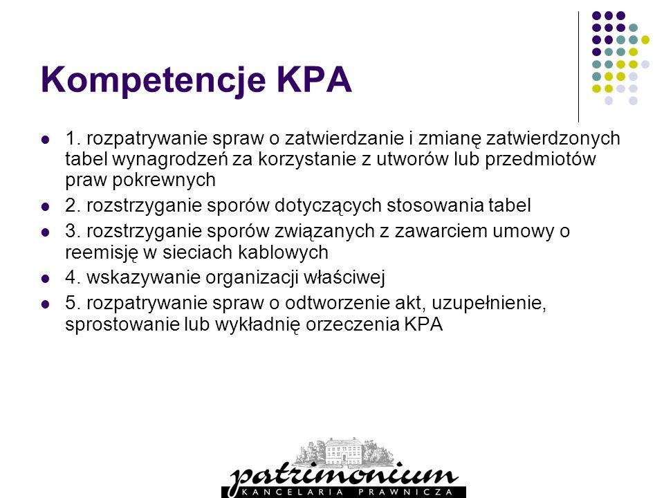 Kompetencje KPA