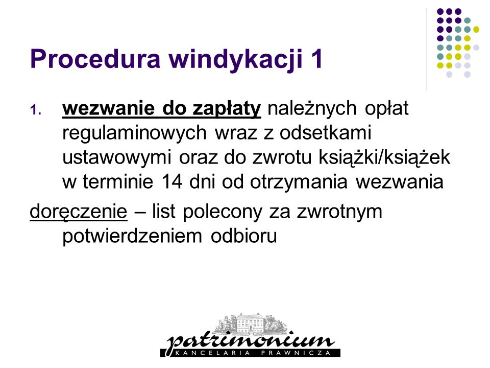 Procedura windykacji 1