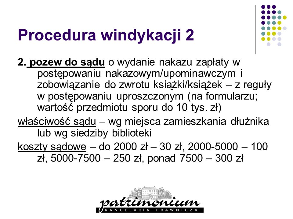 Procedura windykacji 2