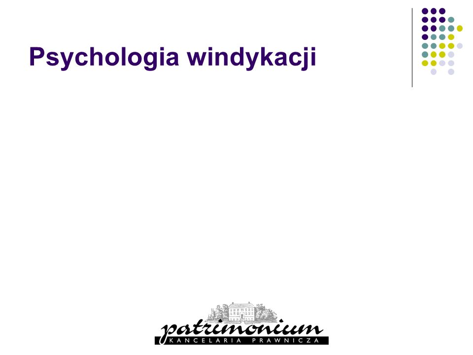 Psychologia windykacji