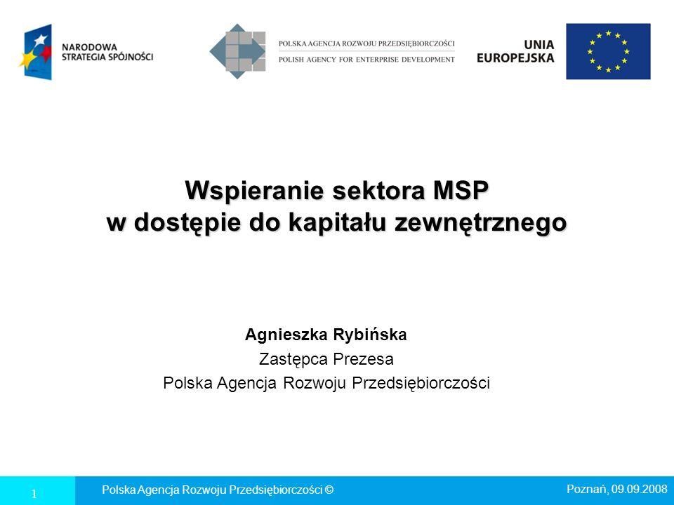 Wspieranie sektora MSP w dostępie do kapitału zewnętrznego