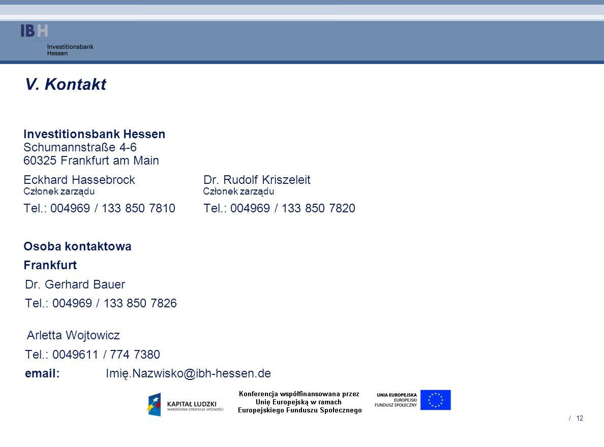 V. Kontakt Investitionsbank Hessen Schumannstraße 4-6 60325 Frankfurt am Main.