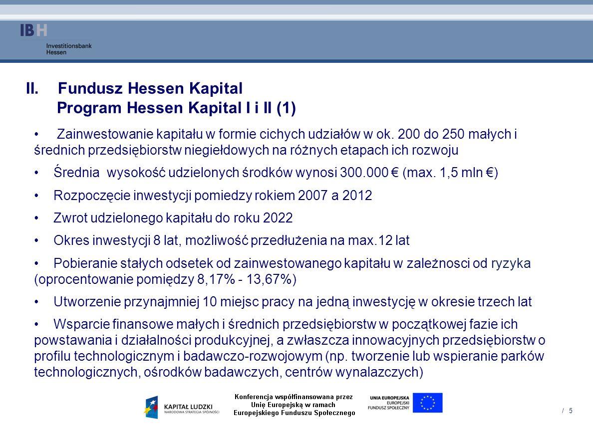 Fundusz Hessen Kapital Program Hessen Kapital I i II (1)