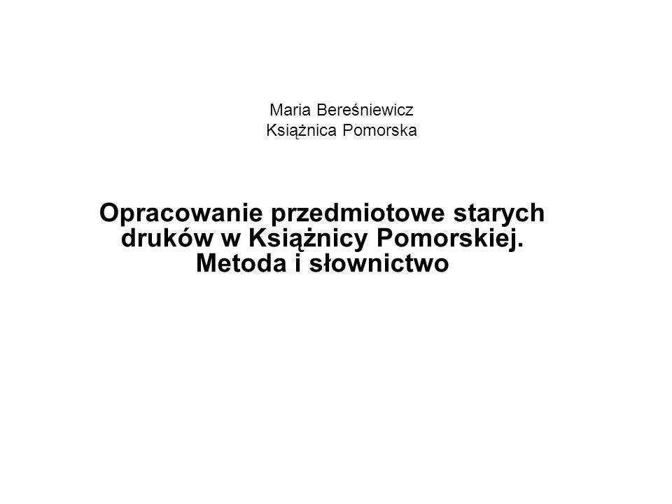 Maria Bereśniewicz Książnica Pomorska