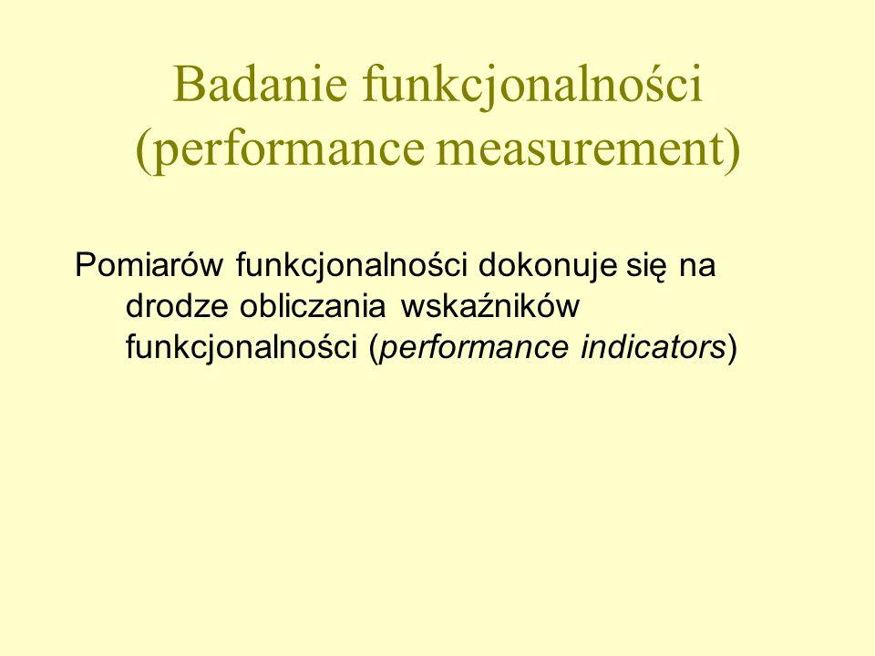 Badanie funkcjonalności (performance measurement)