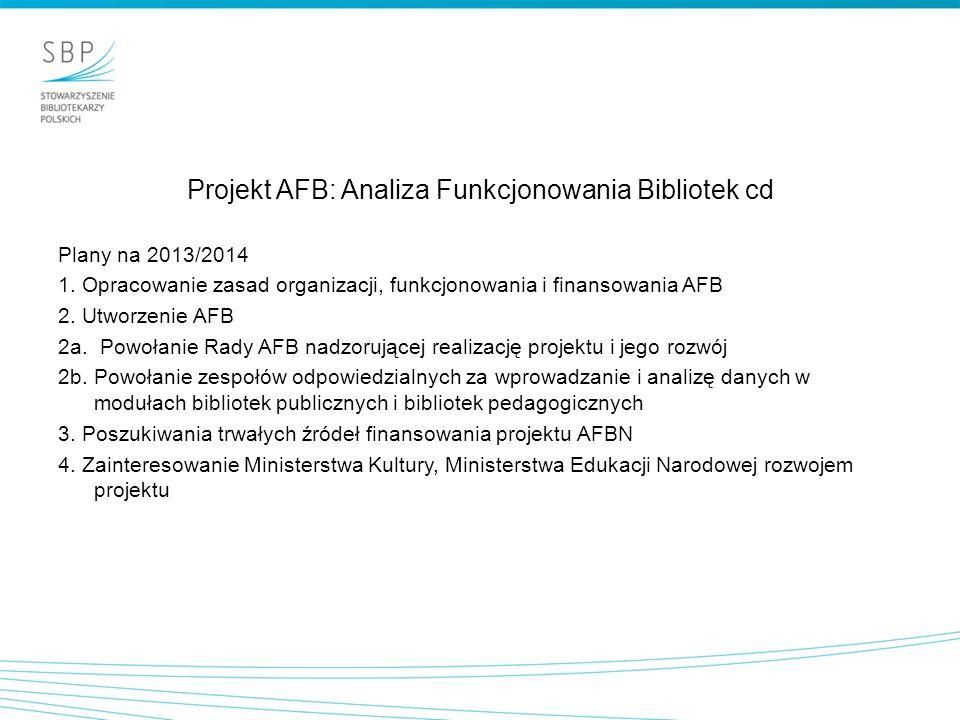 Projekt AFB: Analiza Funkcjonowania Bibliotek cd