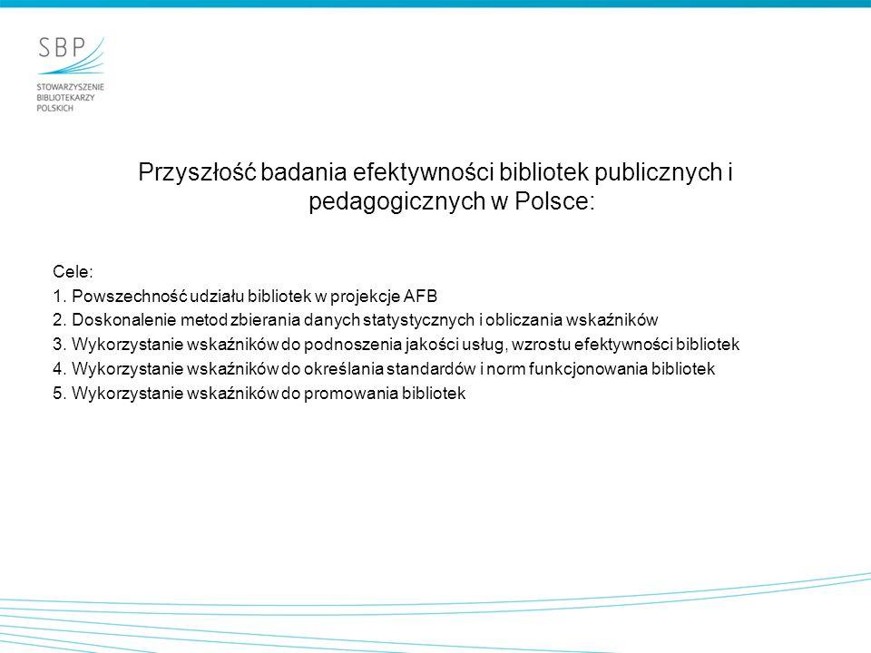 Przyszłość badania efektywności bibliotek publicznych i pedagogicznych w Polsce: