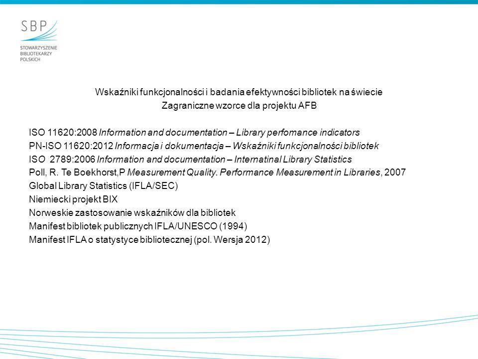Wskaźniki funkcjonalności i badania efektywności bibliotek na świecie
