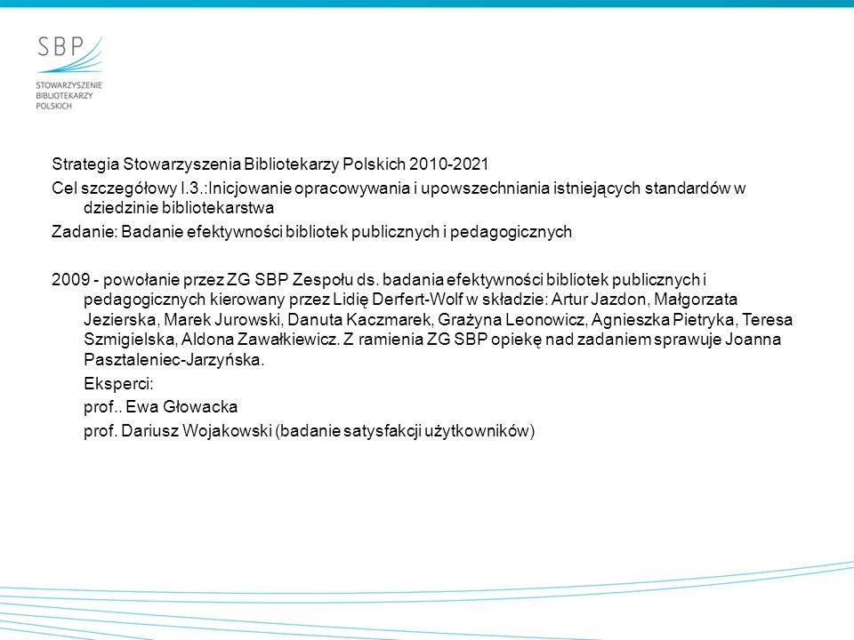 Strategia Stowarzyszenia Bibliotekarzy Polskich 2010-2021