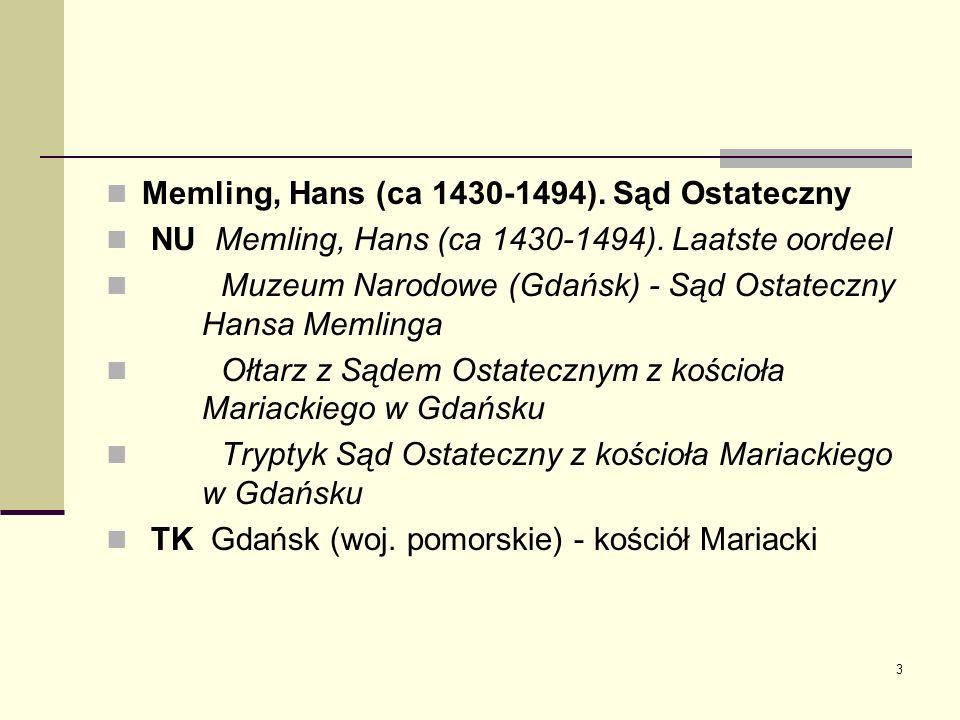 Memling, Hans (ca 1430-1494). Sąd Ostateczny