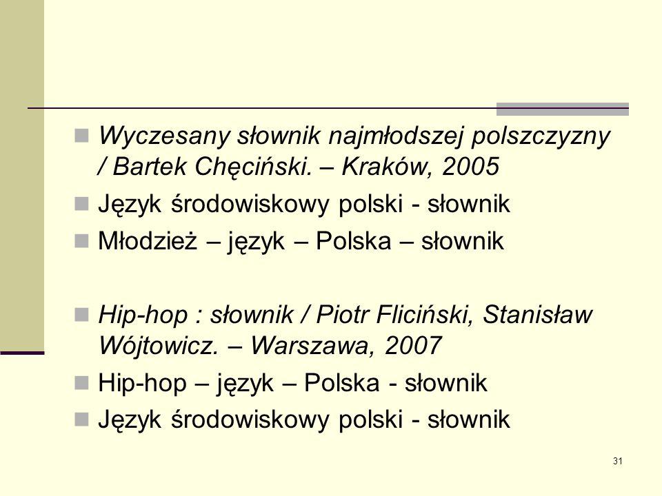 Wyczesany słownik najmłodszej polszczyzny / Bartek Chęciński