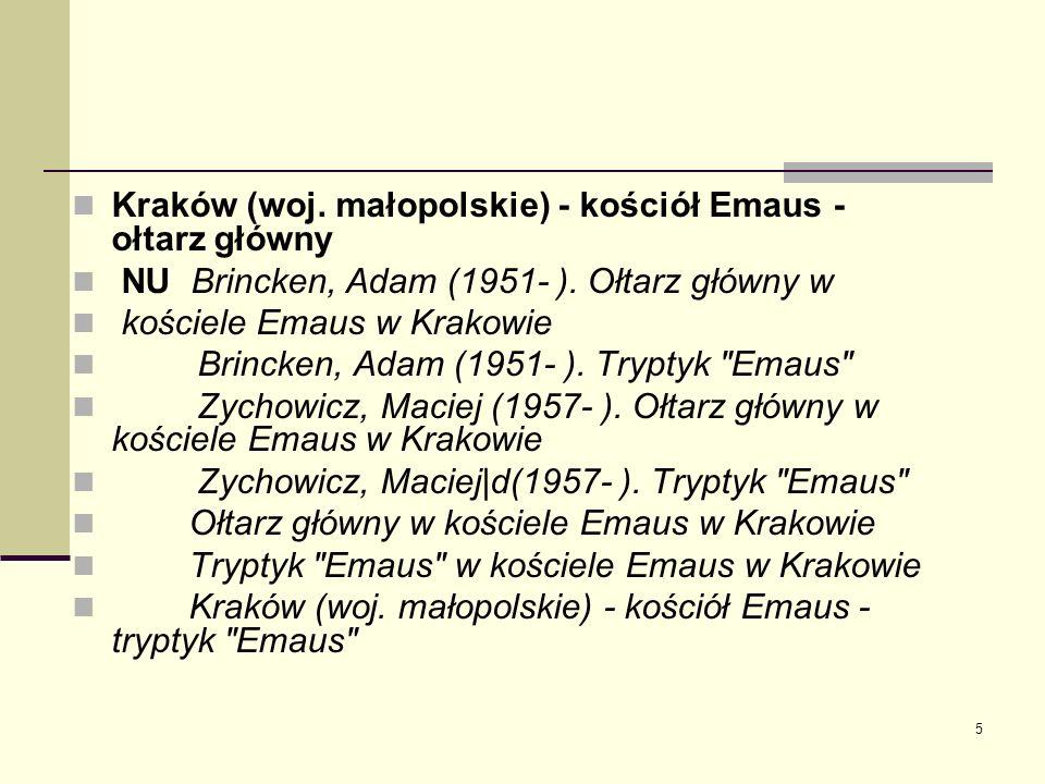 Kraków (woj. małopolskie) - kościół Emaus - ołtarz główny