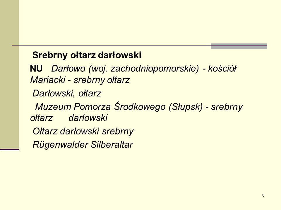 Srebrny ołtarz darłowski