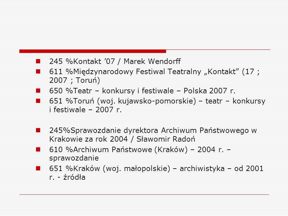 245 %Kontakt '07 / Marek Wendorff