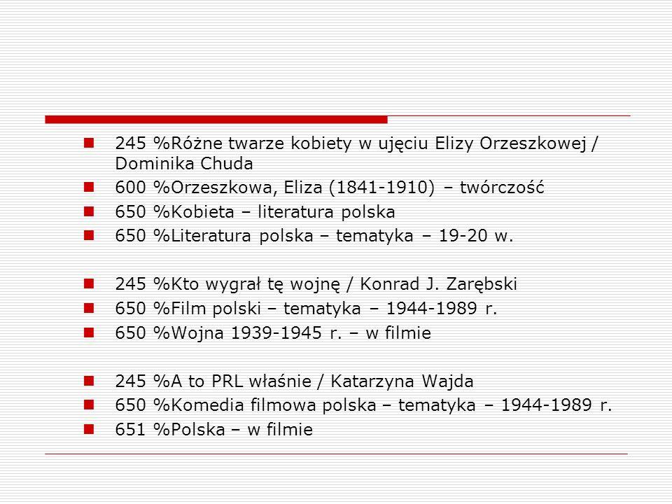 245 %Różne twarze kobiety w ujęciu Elizy Orzeszkowej / Dominika Chuda