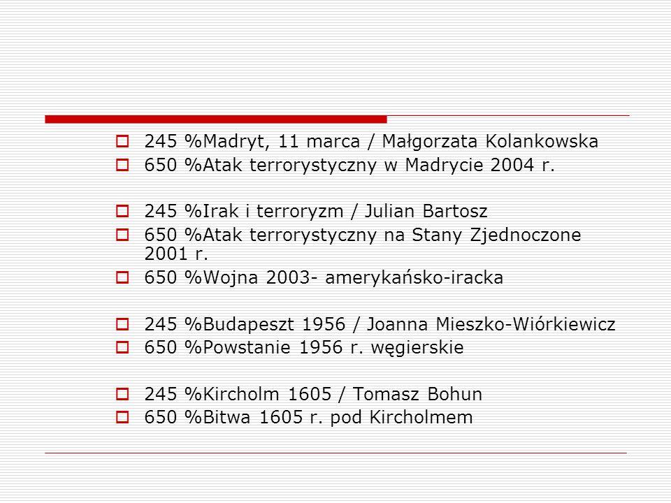 245 %Madryt, 11 marca / Małgorzata Kolankowska
