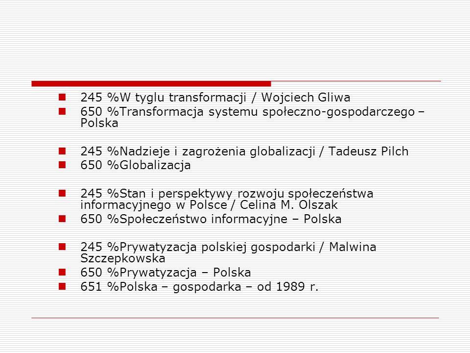 245 %W tyglu transformacji / Wojciech Gliwa