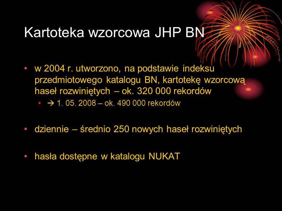 Kartoteka wzorcowa JHP BN