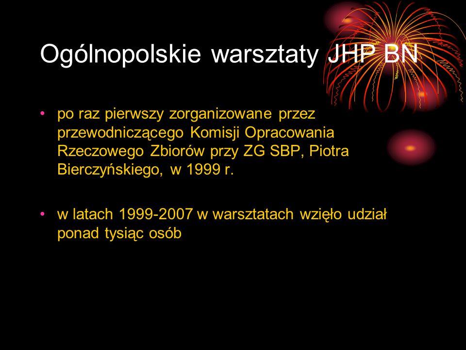 Ogólnopolskie warsztaty JHP BN
