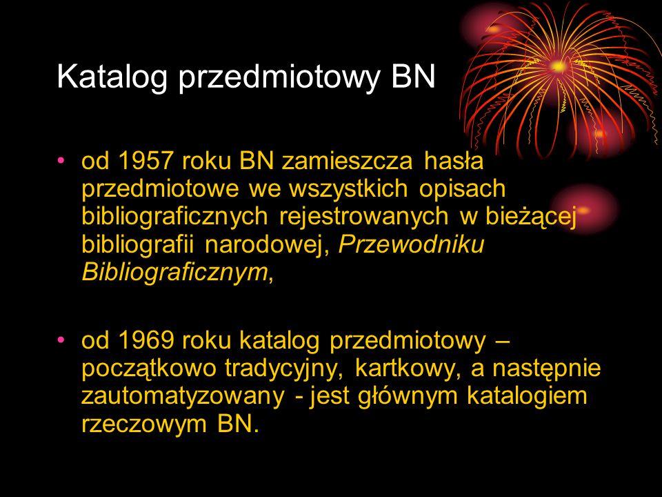 Katalog przedmiotowy BN