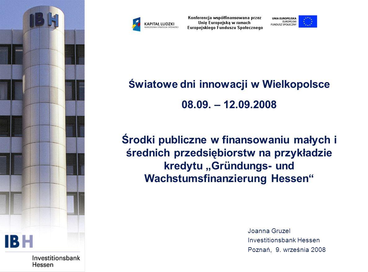 Joanna Gruzel Investitionsbank Hessen Poznań, 9. września 2008
