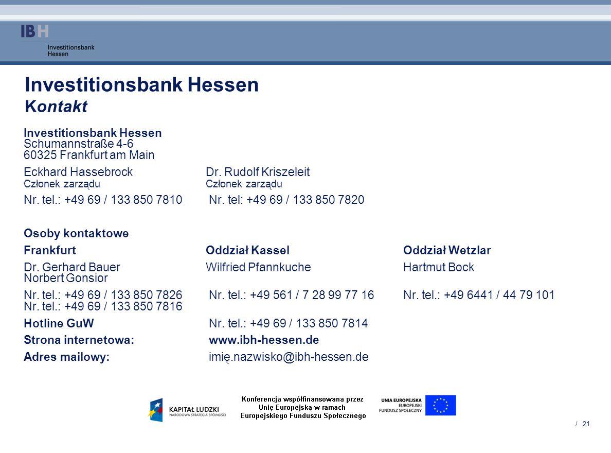 Investitionsbank Hessen Kontakt