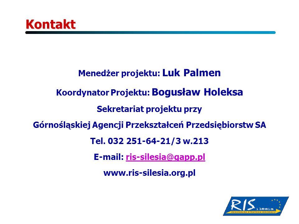 Kontakt Menedżer projektu: Luk Palmen