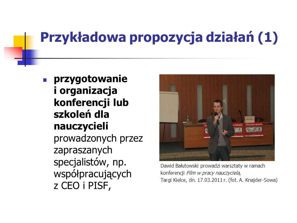 Przykładowa propozycja działań (1)
