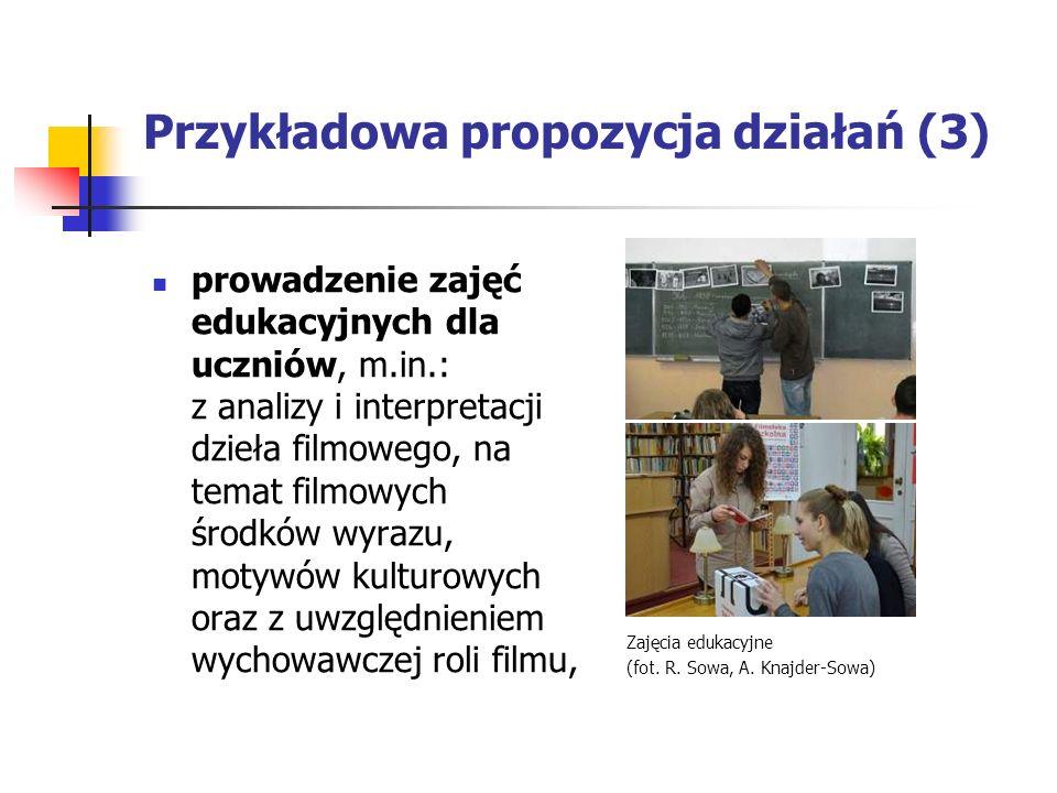 Przykładowa propozycja działań (3)