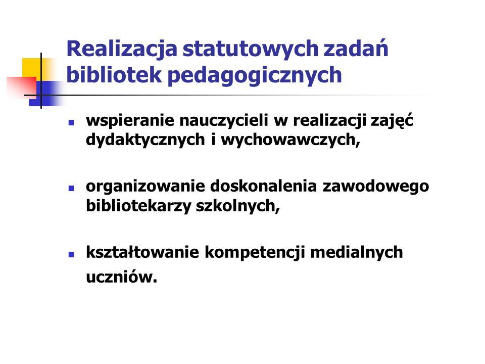 Realizacja statutowych zadań bibliotek pedagogicznych