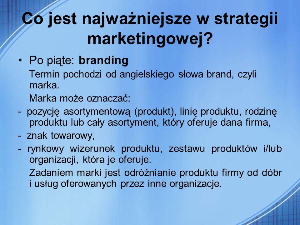 Co jest najważniejsze w strategii marketingowej