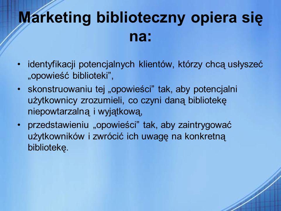 Marketing biblioteczny opiera się na: