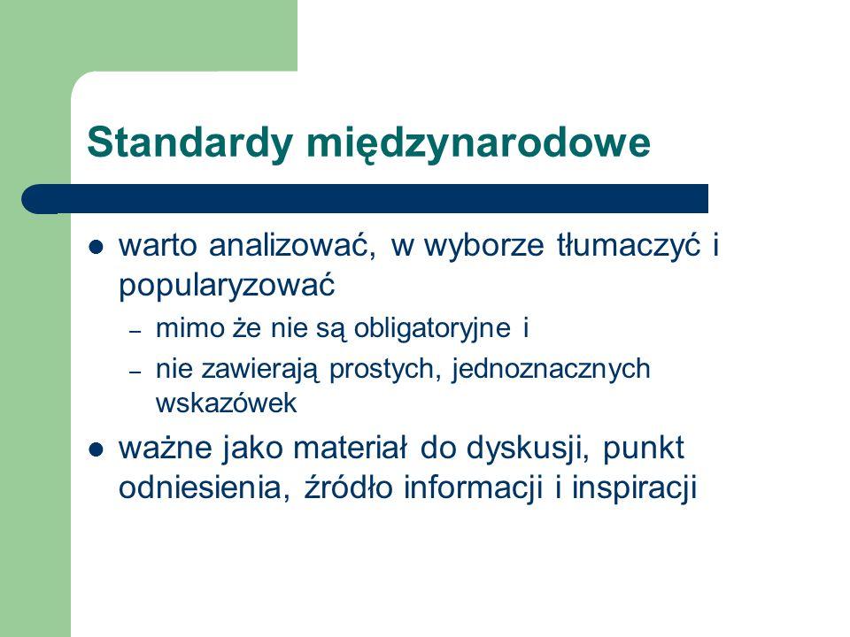 Standardy międzynarodowe