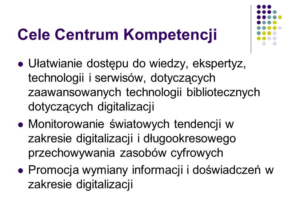 Cele Centrum Kompetencji